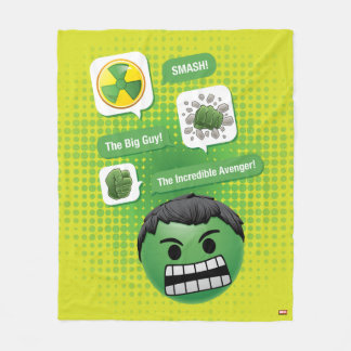 Hulk Emoji Fleece Blanket