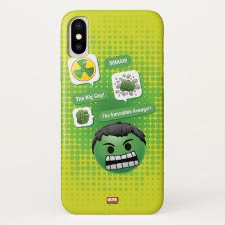 Hulk Emoji iPhone X Case