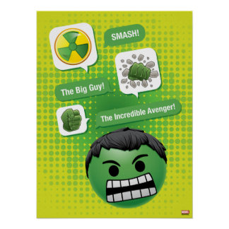 Hulk Emoji Poster