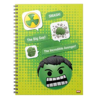 Hulk Emoji Spiral Notebook