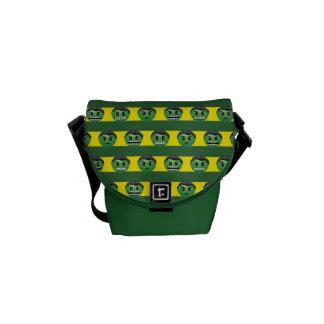 Hulk Emoji Stripe Pattern Commuter Bag