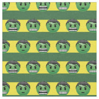 Hulk Emoji Stripe Pattern Fabric