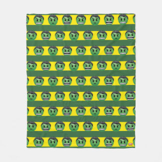Hulk Emoji Stripe Pattern Fleece Blanket
