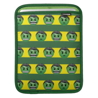 Hulk Emoji Stripe Pattern iPad Sleeve