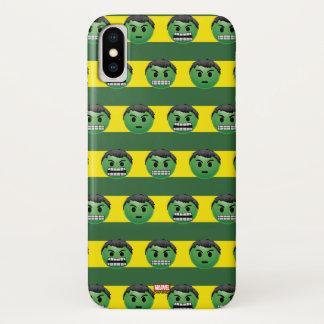 Hulk Emoji Stripe Pattern iPhone X Case