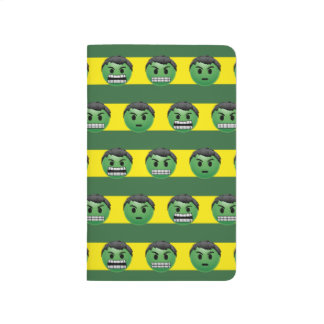 Hulk Emoji Stripe Pattern Journal