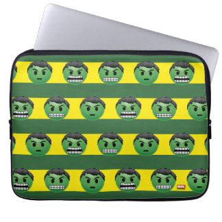 Hulk Emoji Stripe Pattern Laptop Sleeve