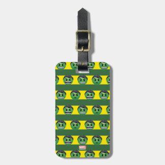 Hulk Emoji Stripe Pattern Luggage Tag
