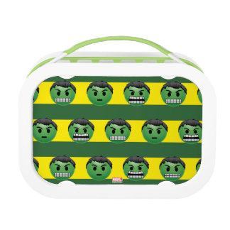 Hulk Emoji Stripe Pattern Lunch Box