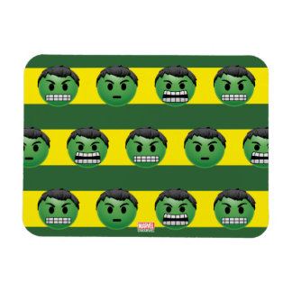 Hulk Emoji Stripe Pattern Magnet