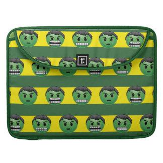 Hulk Emoji Stripe Pattern Sleeve For MacBooks