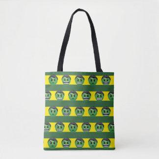 Hulk Emoji Stripe Pattern Tote Bag