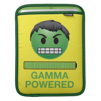 Hulk Gamma Powered Emoji iPad Sleeve