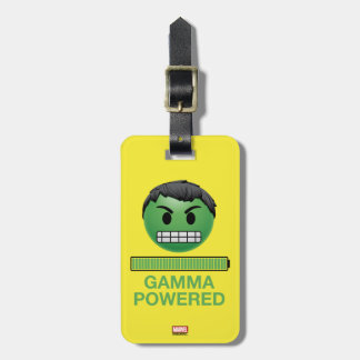 Hulk Gamma Powered Emoji Luggage Tag