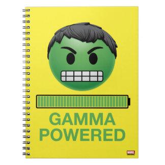Hulk Gamma Powered Emoji Notebooks