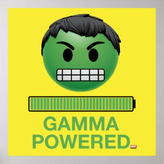 Hulk Gamma Powered Emoji Poster