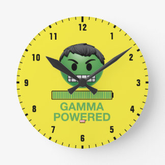 Hulk Gamma Powered Emoji Round Clock