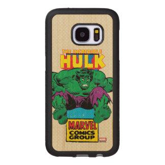 Hulk Retro Comic Character Wood Samsung Galaxy S7 Case