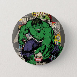 Hulk Retro Comic Graphic 6 Cm Round Badge