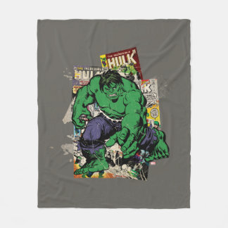 Hulk Retro Comic Graphic Fleece Blanket