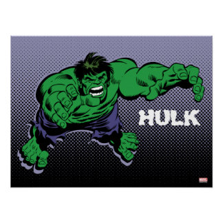 Hulk Retro Dive Poster