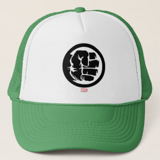 Hulk Retro Fist Icon Trucker Hat