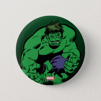 Hulk Retro Stomp 6 Cm Round Badge