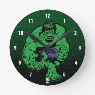 Hulk Retro Stomp Round Clock