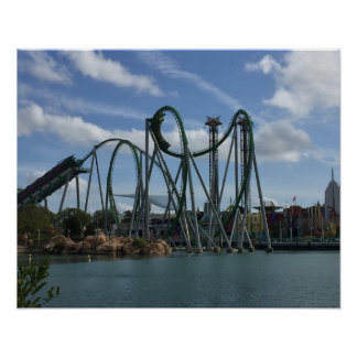 Hulk Roller Coaster Poster - IOA