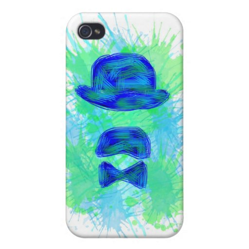 Hull Blue Iphone 4 Moustache iPhone 4 Cases