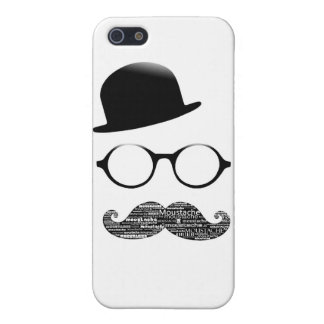 Hull iPhone 5 hat glasses moustache iPhone 5/5S Cases