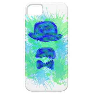 Hull Iphone Moustache Blue iPhone 5 Cases