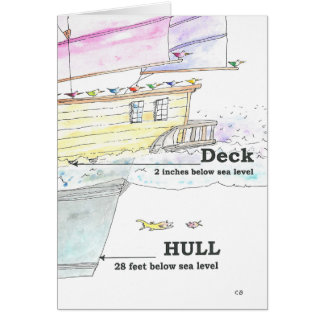 """Hull Low"" Hello Card"