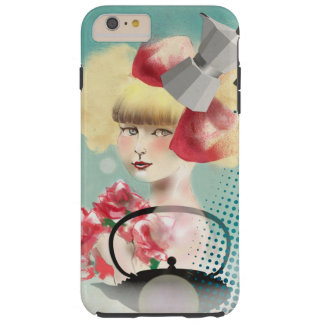 hull of Iphone 6 more, Young girl with the teapot Tough iPhone 6 Plus Case