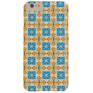 Hull turquoise and orange graphic reason barely there iPhone 6 plus case