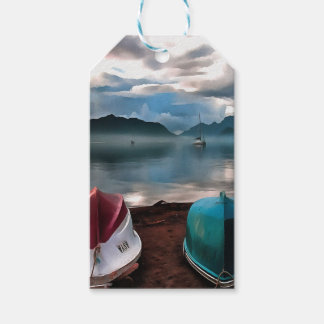 Hulls of Boats Marmaris Winter Seascape Gift Tags