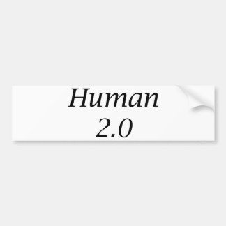 Human2.0 Car Bumper Sticker