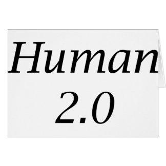 Human2.0 Greeting Card