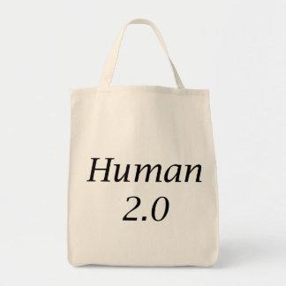 Human2.0 Grocery Tote Bag