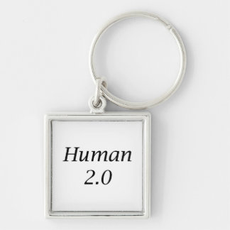 Human2.0 Silver-Colored Square Key Ring