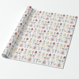 Human Anatomy Medical Diagrams full colored wrap Wrapping Paper