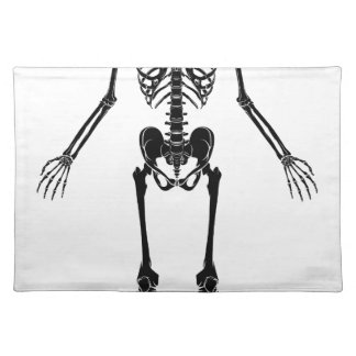 Human Anatomy Skeleton Placemat