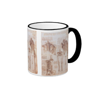 Human Anatomy Skeletons by Leondardo da Vinci Ringer Coffee Mug