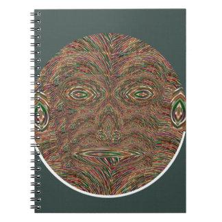 Human Ancestor Monkey Face Cartoon Humor Comedy 99 Spiral Notebook