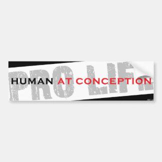 Human At Conception Bumper Sticker