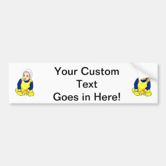 human baby chick blue sleeves png bumper stickers