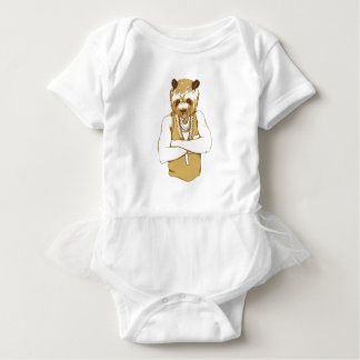 human bear with tongue baby bodysuit