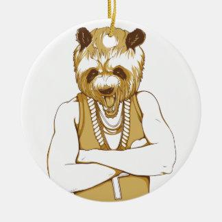 human bear with tongue ceramic ornament