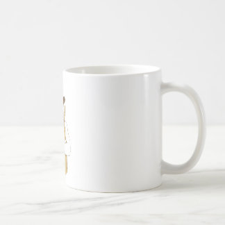 human bear with tongue coffee mug