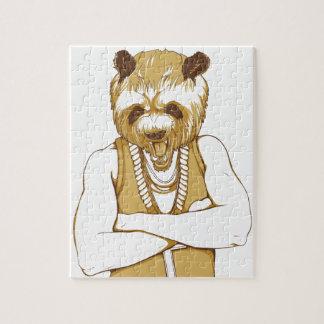 human bear with tongue jigsaw puzzle